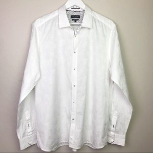 Ted Baker Modern Fit White Button Down Size 17
